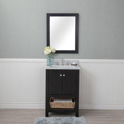 Shae 24 Single Bathroom Vanity Set with Mirror Base Finish: Espresso