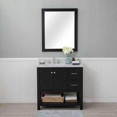 Shae 36 Single Bathroom Vanity Set with Mirror Base Finish: Espresso