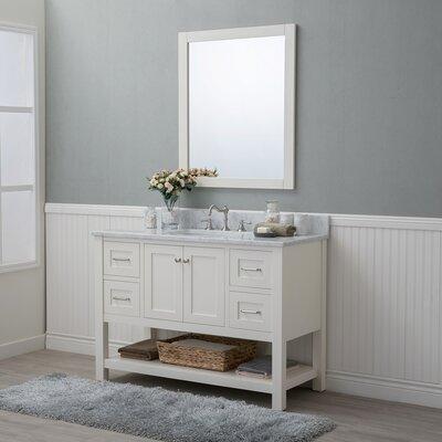 Whiting 48 Single Bathroom Vanity Set Finish: White