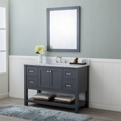 Whiting 48 Single Bathroom Vanity Set Finish: Gray