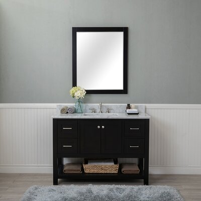 Shae 48 Single Bathroom Vanity Set with Mirror Base Finish: Espresso
