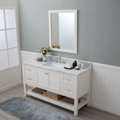 Whiting 60 Single Bathroom Vanity Set Finish: White