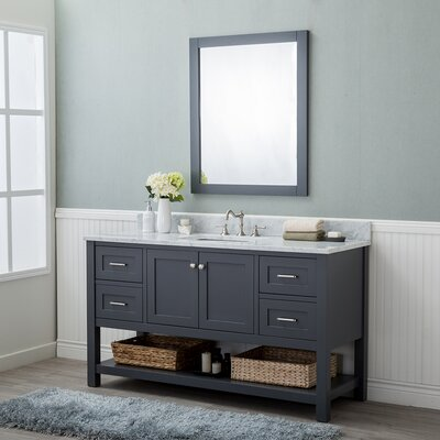 Whiting 60 Single Bathroom Vanity Set Finish: Gray