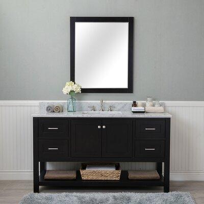 Shae 60 Single Bathroom Vanity Set with Mirror Base Finish: Espresso
