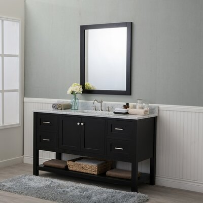 Whiting 60 Single Bathroom Vanity Set Finish: Espresso