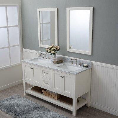 Whiting 60 Double Bathroom Vanity Set Finish: White