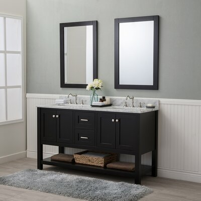 Whiting 60 Double Bathroom Vanity Set Finish: Espresso