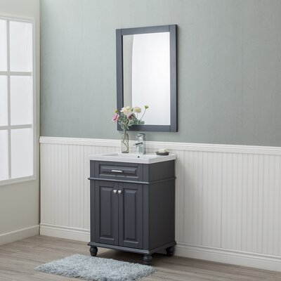 Guzman 24 Single Plywood Bathroom Vanity Set Finish: Gray