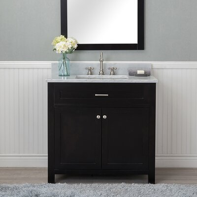 Cecilton 36 Single Bathroom Vanity Set Finish: Espresso