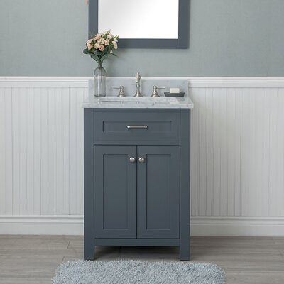 Cecilton 24 Single Bathroom Vanity Set Finish: Gray