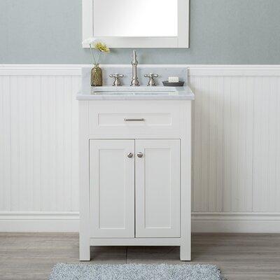 Cecilton 24 Single Bathroom Vanity Set Finish: White
