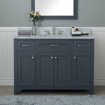 Cecilton 48 Single Bathroom Vanity Finish: Gray