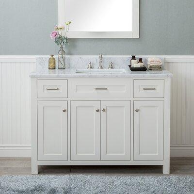 Cecilton 48 Single Bathroom Vanity Finish: White