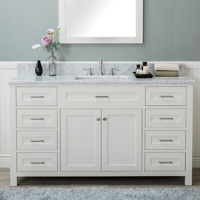 Cecilton 60 Single Bathroom Vanity Finish: White