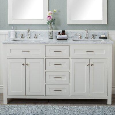 Cecilton 60 Double Bathroom Vanity Set Finish: White