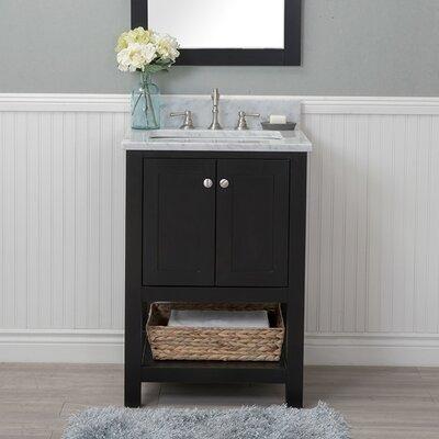 Whiting 24 Single Bathroom Vanity Set Finish: Espresso