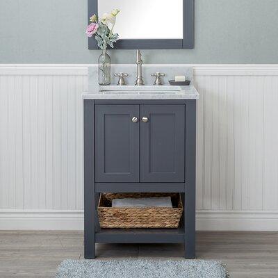 Whiting 24 Single Bathroom Vanity Set Finish: Gray
