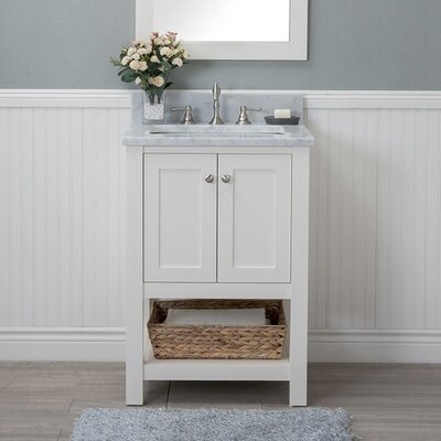 Whiting 24 Single Bathroom Vanity Set Finish: White