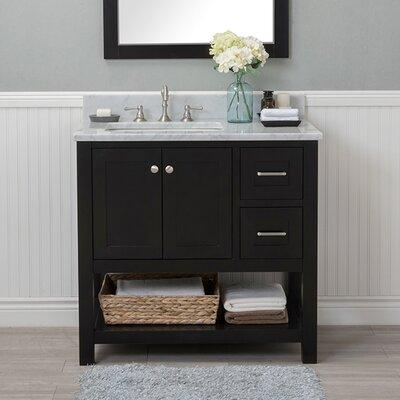Whiting 36 Single Bathroom Vanity Set Finish: Espresso