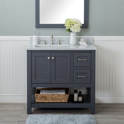 Whiting 36 Single Bathroom Vanity Set Finish: Gray