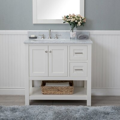 Whiting 36 Single Bathroom Vanity Set Finish: White