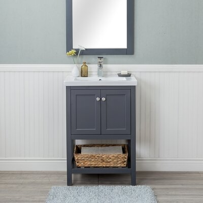 Hagins 24 Single Bathroom Vanity Set Finish: Gray