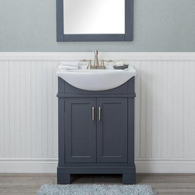 Guzman 24 Single Bathroom Vanity Set Finish: Gray