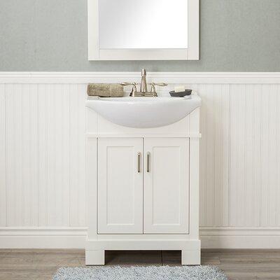 Guzman 24 Single Bathroom Vanity Set Finish: White