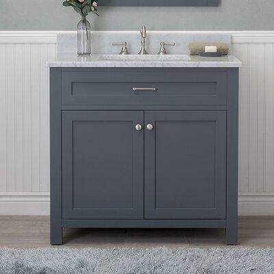 Cecilton 36 Single Bathroom Vanity Set Finish: Gray