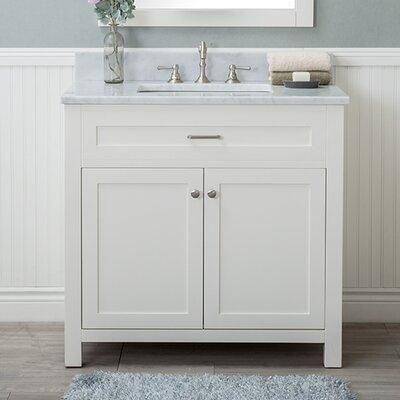 Cecilton 36 Single Bathroom Vanity Set Finish: White