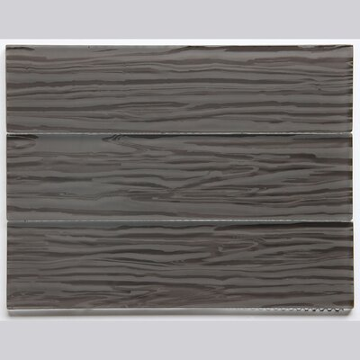 3 x 12 Glass Subway Tile in Glossy Dark Brown