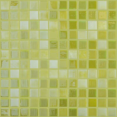 Lux Eco 1 W x 1 L Glass Mosaic in Lemon Lime