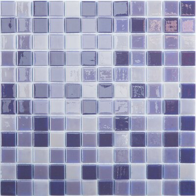 Lux Eco 12.375 W x 12.375 L Glass Mosaic in Northern Lights