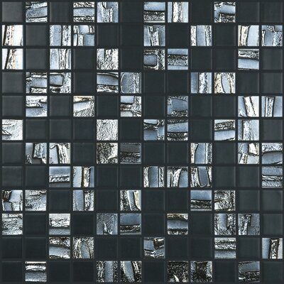 Moon Blends 12.375 W x 12.375 L Eco Glass Mosaic in Shimmer Rock