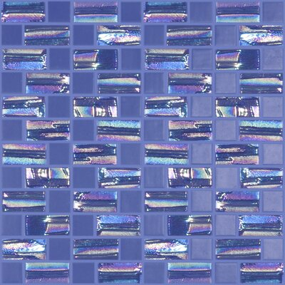 Moon Blends 12.375 W x 12.375 L Eco Glass Mosaic in Sobe Blue