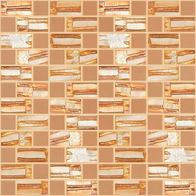 Moon Blends 12.375 W x 12.375 L Eco Glass Mosaic in Tequila Sunrise