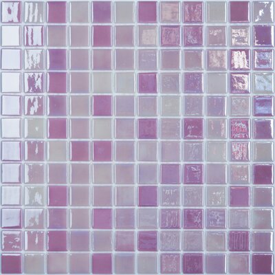 Lux Eco 12.375 W x 12.375 L Glass Mosaic in Pink Passion