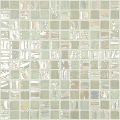 Moon Blends 12.375 W x 12.375 L Eco Glass Mosaic in Moon Beam