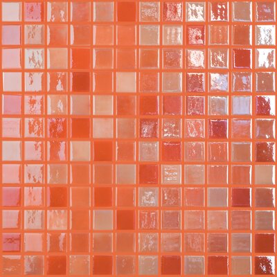 Lux Eco 12.375 W x 12.375 L Glass Mosaic in Orange Blossom