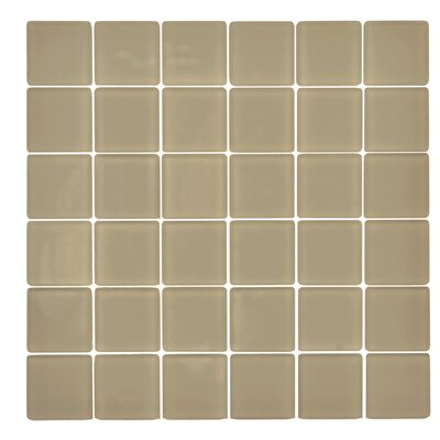 Traditional Glass 2 x 2 Mosaic Tile in Ecru
