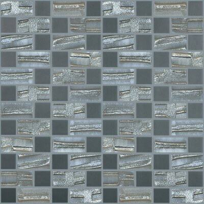 Moon Blends 12.375 W x 12.375 L Eco Glass Mosaic in Starry Night