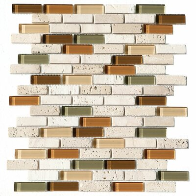 Paragon 12 x 12 Glass Mosaic Strip Tile in Harvest