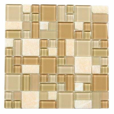 Paragon 12 x 12 Glass Mosaic Tile in Sahara Multi