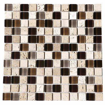 Paragon 12 x 12 Glass Mosaic Tile in Mocha