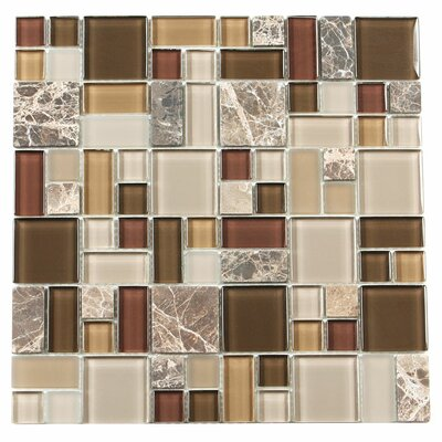 Paragon 12 x 12 Glass Mosaic Tile in Sable Multi