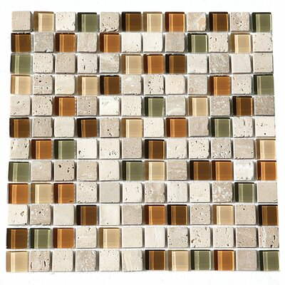 Paragon 12 x 12 Glass Mosaic Tile in Mosaic Harvest