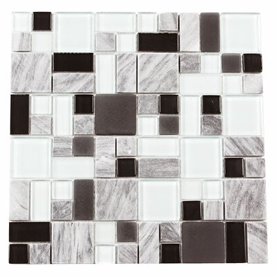 Paragon 12 x 12 Glass Mosaic Tile in Delorean Multi