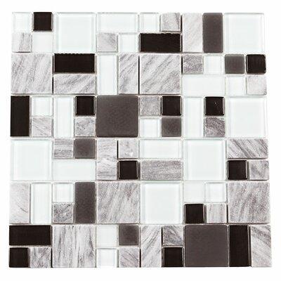 Paragon 12 x 12 Glass Mosaic Tile in Delorean Multi