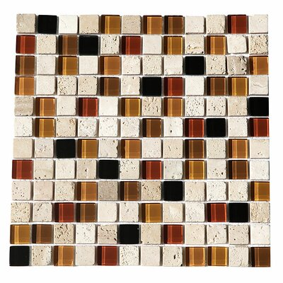 Paragon 12 x 12 Glass Mosaic Tile in Driftwood