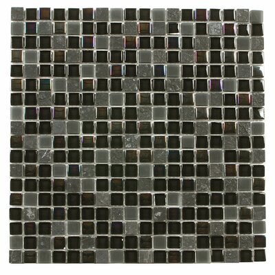 Paragon 12 x 12 Glass Mosaic Tile in Basalt Mixed